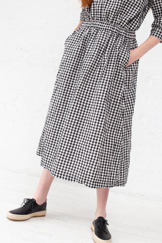 Ichi Antiquites Skirt in Natural Gingham | Oroboro Store | New York, NY