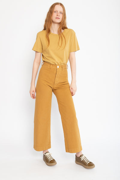 Jesse Kamm Sailor Pant in Wheat, Front View Full Body