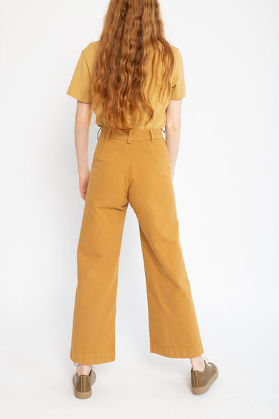 Jesse Kamm Sailor Pant in Wheat, Back View