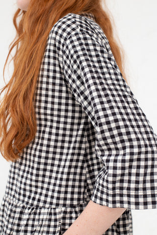 Ichi Antiquites Dress in Natural Gingham | Oroboro Store | New York, NY