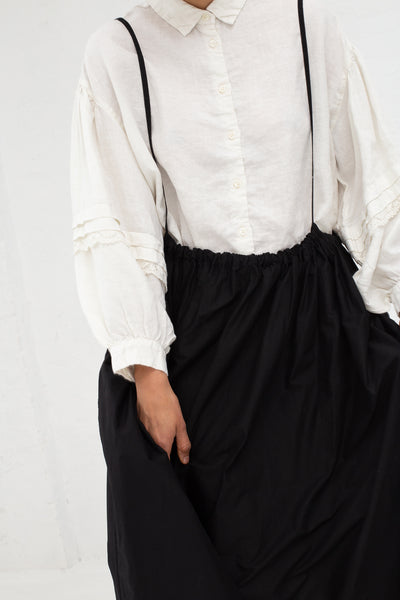 Nest Robe Cotton Embroidery Two Way Skirt in Black | Oroboro Store | New York, NY