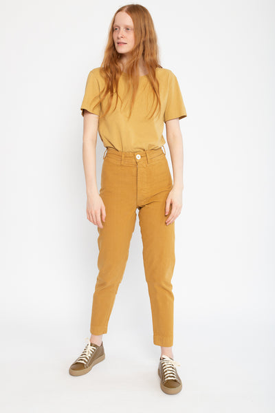Jesse Kamm Ranger Pant in Wheat, Front View Full Body, Oroboro Store, New York, NY