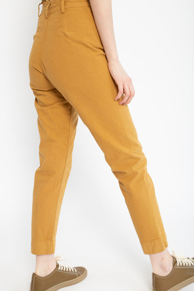Jesse Kamm Ranger Pant in Wheat, Side View Cropped at Waist
