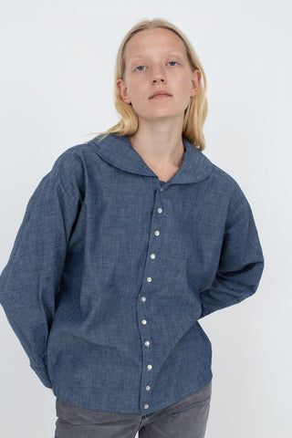 B Sides Bresson Shirt in Rie Blue | Oroboro Store | New York, NY