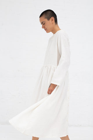 Nest Robe Linen Cluny Lace Collar 2Way Dress in Off White | Oroboro Store | New York, NY