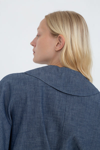 B Sides Bresson Shirt in Rie Blue Back View