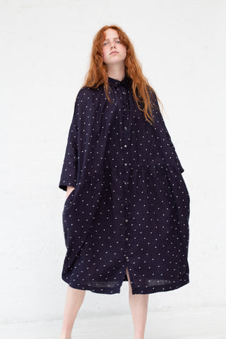 Ichi Antiquites Dress in Navy Polkadot | Oroboro Store | New York, NY
