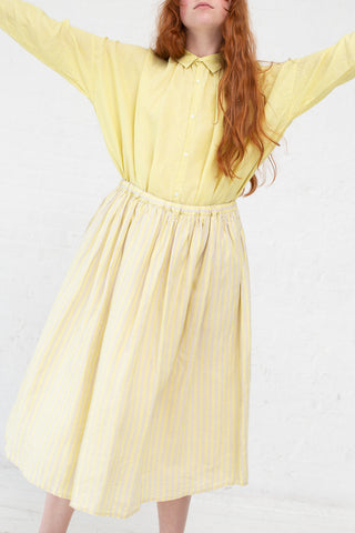Ichi Antiquites Skirt in Lemon Stripe | Oroboro Store | New York, NY