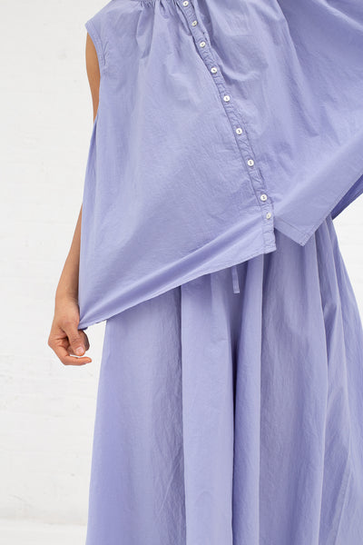 Ohmi-Zarashi Linen Voluminous Blouse in Linen Flower