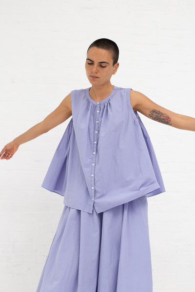 Nest Robe Ohmi-Zarashi Linen Voluminous Blouse in Linen Flower | Oroboro Store | New York, NY
