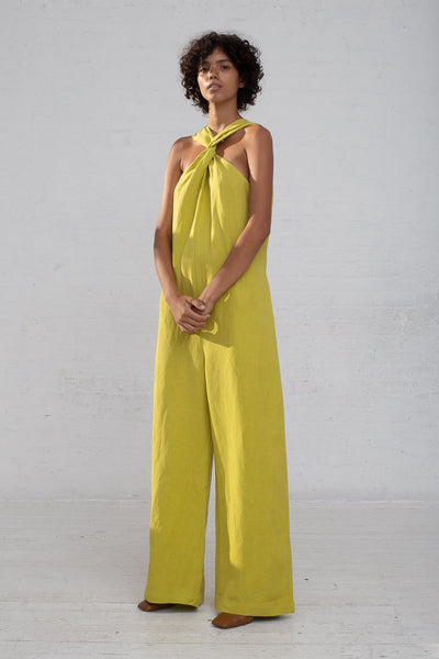 Shaina Mote Teo Jumpsuit in Lichen full front view