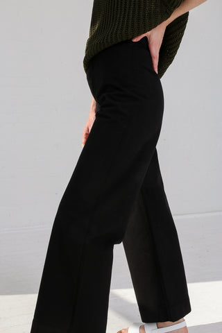 Jesse Kamm Sailor Pant in Black on model view side