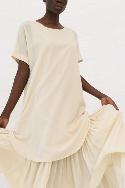 Black Crane Double Dress in Cream | Oroboro Store | New York, NY