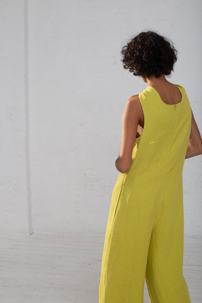 Shaina Mote Teo Jumpsuit in Lichen back view