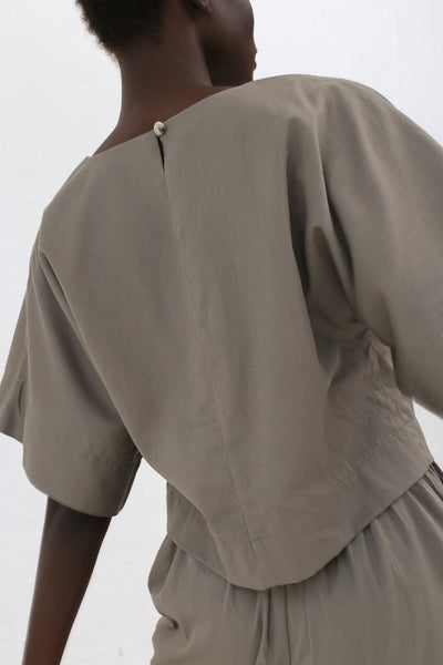 Black Crane Petal Top in Sand | Oroboro Store | New York, NY