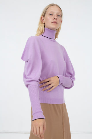 Veronique Leroy T-Neck in 54 Mauve | Oroboro Store | New York, NY