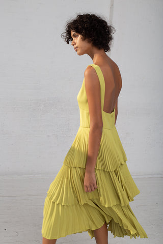 Shaina Mote Coba Dress in Lichen side view