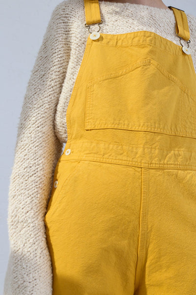 Jesse Kamm Overalls in Caribbean Gold on model view front