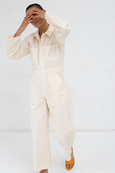 As Ever Zip Jumpsuit in Bone | Oroboro Store | New York, NY