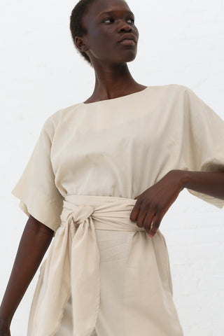 Black Crane Petal Top in Cream | Oroboro Store | New York, NY