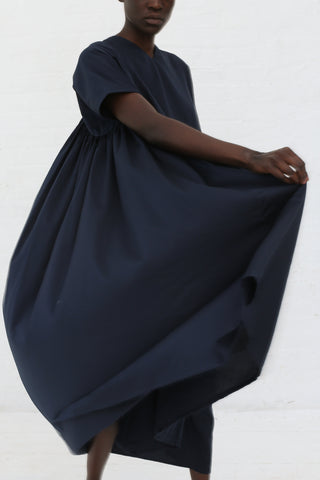 Black Crane Petal Dress in Dark Navy | Oroboro Store | New York, NY