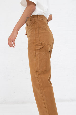 Handy Pant in Fine Cotton Canvas Tobacco | Oroboro Store | New York, NY