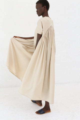 Black Crane Petal Dress in Cream | Oroboro Store | New York, NY