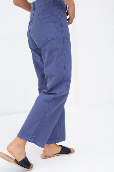 Jesse Kamm Handy Pant in Fine Cotton Canvas Mechanic's Blue | Oroboro Store | New York, NY