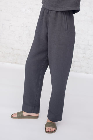 Black Crane Dual Canvas Pants in Charcoal | Oroboro Store | New York, NY