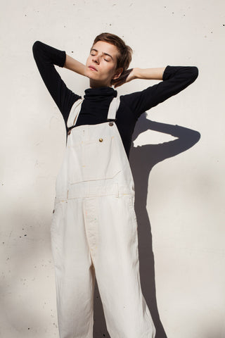 Chimala Off White Herringbone Overall | Oroboro Store | Brooklyn, New York