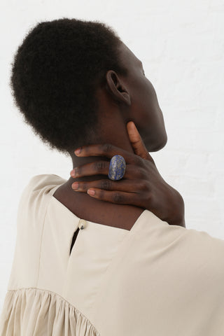 Kathleen Whitaker Rock Ring in Lapis - 6.25 | Oroboro Store | New York, NY