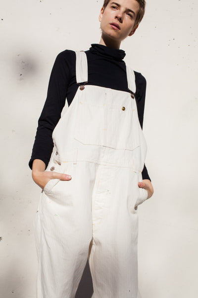 Off White Herringbone Overall