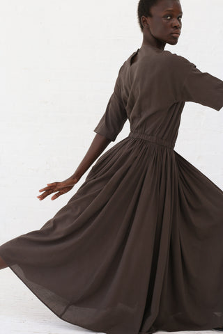 Black Crane Pleated Dress in Charcoal | Oroboro Store | New York, NY