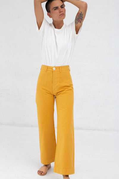 Sailor Pant in Fine Cotton Canvas Caribbean Gold | Oroboro Store | New York, NY