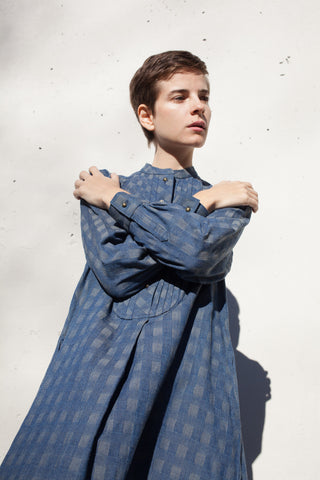 Eatable of Many Orders Heart Blouse Long Ichima in Blue | Oroboro Store | Brooklyn, New York