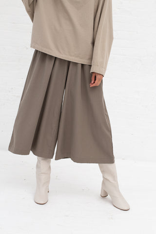 Black Crane Wide Culottes in Ash Tencel/Cotton | Oroboro Store | New York, NY