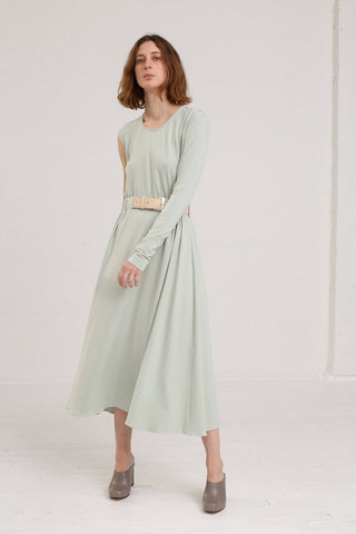 Nehera Suin Fluid Skirt in Sage on model view front
