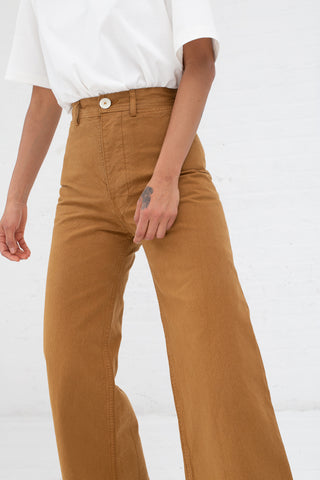 Sailor Pant in Fine Cotton Canvas Tobacco | Oroboro Store | New York, NY