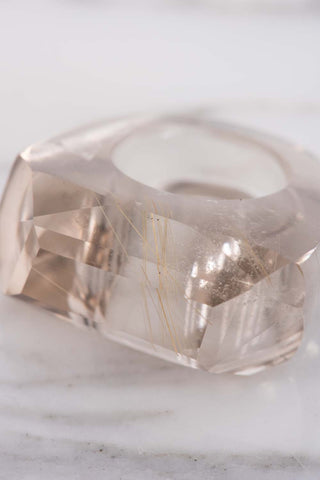 Kathleen Whitaker Rutilated Quartz Rock Ring | Oroboro Store | Brooklyn, New York