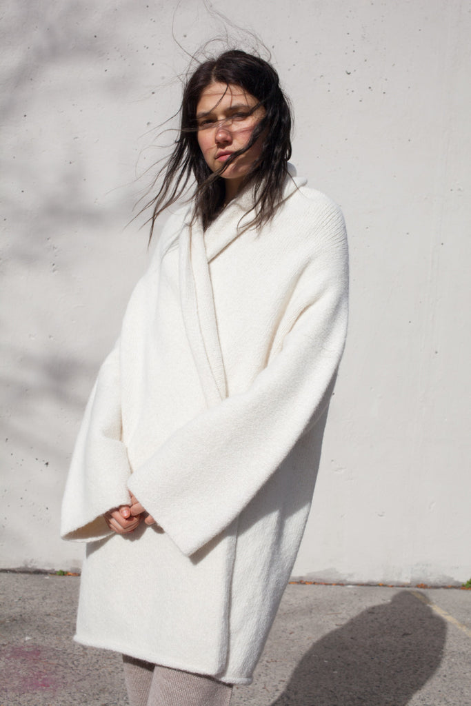 Lauren Manoogian Capote Coat in White | Oroboro Store | Brooklyn, New York