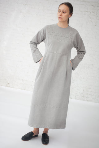 Cosmic Wonder Sashiko Embroidery Dress in Light Sumikuro | Oroboro Store | New York, NY