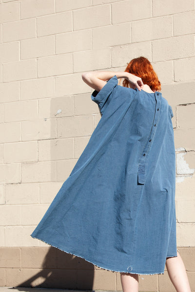 Bernhard Wilhelm Dress in Blue/Grey | Oroboro Store | New York, NY