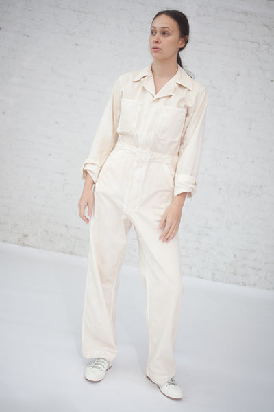 Zip Jumpsuit in Bone