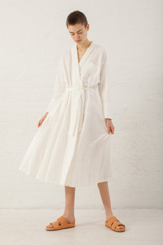 Natures of Conflict Wrap Dress in Off White | Oroboro Store | New York, NY