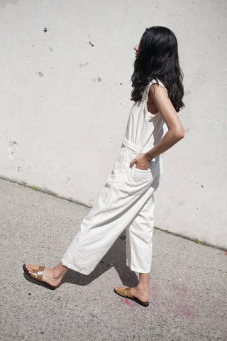 As Ever Sleeveless Zip Jumpsuit in Bone | Oroboro Store | New York, New York