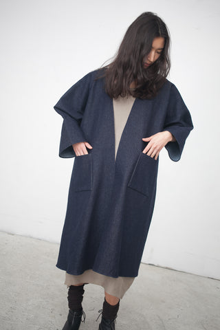 Rachel Craven Long Kimono Jacket in American Denim | Oroboro Store | New York, NY