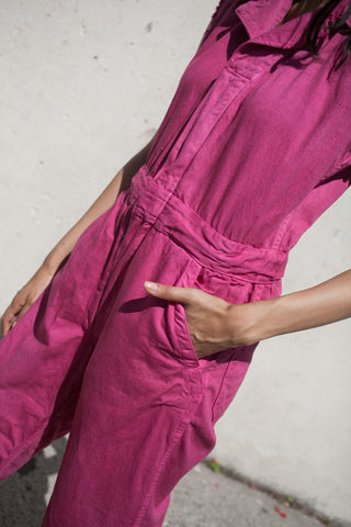As Ever Sleeveless Zip Jumpsuit in Raspberry | Oroboro Store | New York, New York