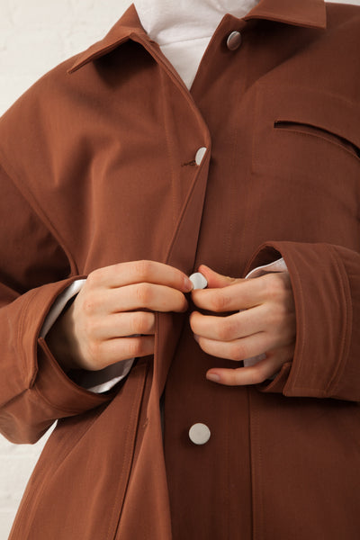 Nomia Oversize Chore Jacket in Tobacco | Oroboro Store | New York, NY
