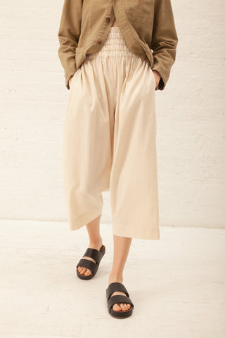 Caron Callahan Nora Pant Voile in Oatmeal | Oroboro Store | New York, NY