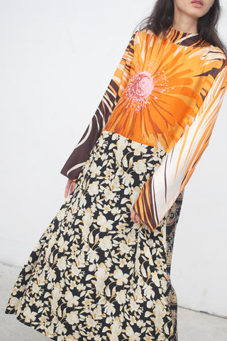 Bettina Bakdal Vintage Scarves Dress in Sun Flowers | Oroboro Store | New York, NY